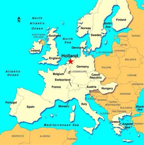 Mapa Europa Holanda | thujamassages