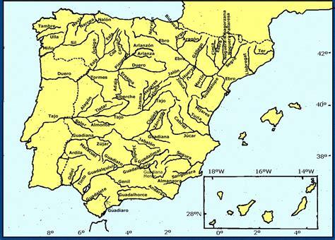 Mapa Fisico De España En Blanco