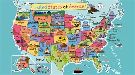 Mapa físico de Estados Unidos