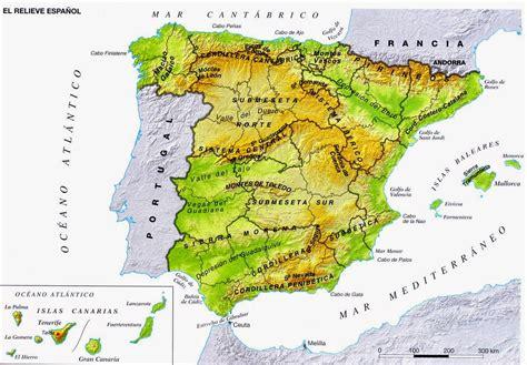Mapa físico España.Golfos y Cabos | La Bitácora
