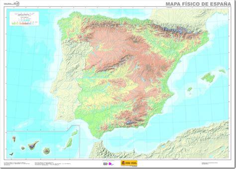 Mapa físico mudo de España Mapa de ríos y montañas de ...