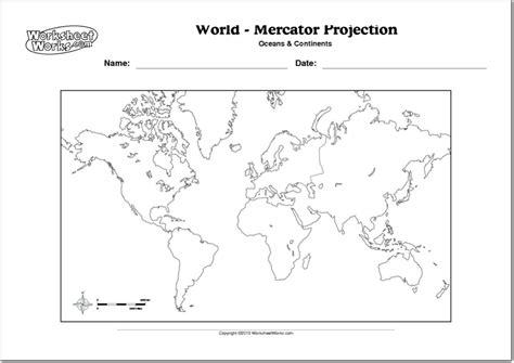Mapa físico y político mudo del Mundo Mapa mudo de ...