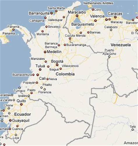 Mapa geográfico da Colômbia em América do Sul