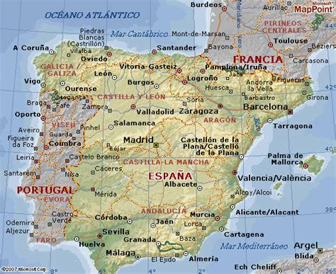 Mapa geográfico de España y su geografía
