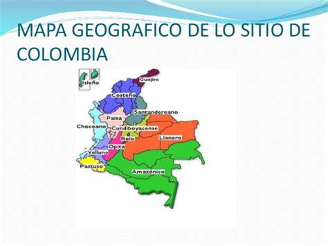 Mapa geografico de lo sitio de colombia
