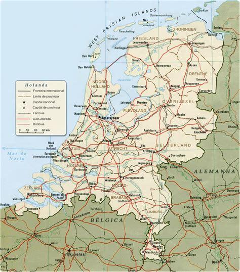 Mapa Holanda En Europa