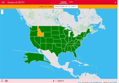 Mapa interactiu. Com es diu? Estats dels Estats Units ...