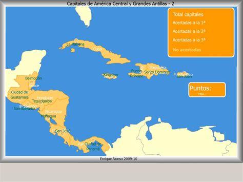 Mapa interactivo de América Central Capitales de América ...