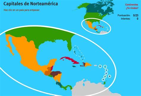 Mapa interactivo de América del Norte Capitales de América ...
