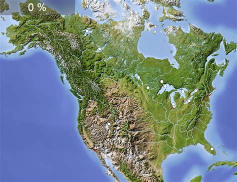 Mapa interactivo de América del Norte Lagos de América del ...