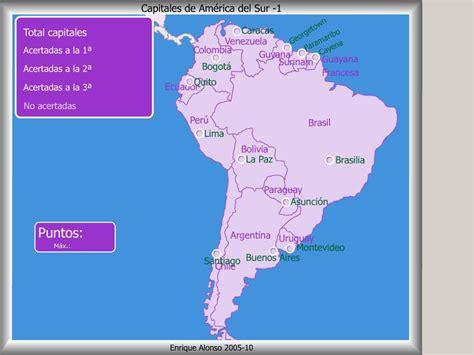 Mapa interactivo de América del Sur Capitales de América ...