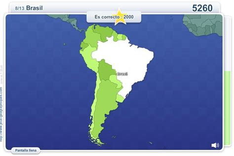 Mapa interactivo de América del Sur Geo Quizz América del ...