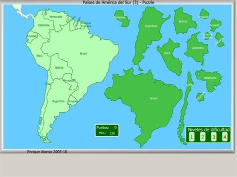 Mapa interactivo de América del Sur Países de América del ...