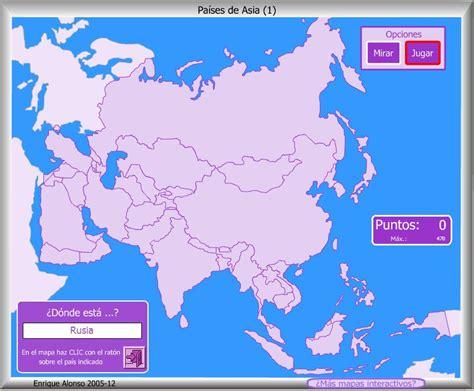 Mapa interactivo de Asia Países de Asia. ¿Dónde está ...