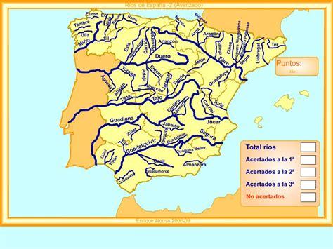 Mapa interactivo de España Ríos de España. ¿Cómo se llama ...