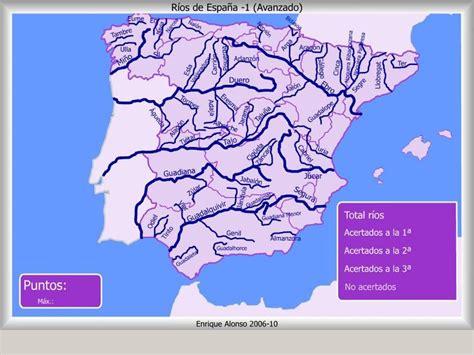 Mapa interactivo de España Ríos de España. ¿Dónde está ...