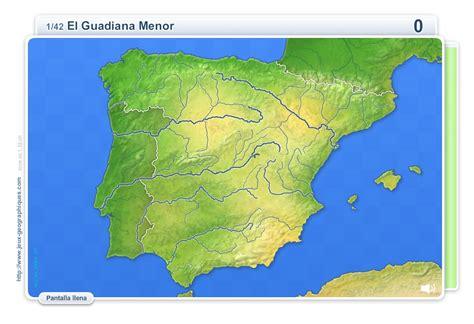 Mapa interactivo de España Ríos de España. Juegos ...