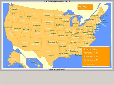 Mapa interactivo de Estados Unidos Capitales de Estado de ...
