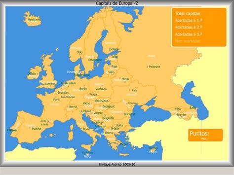 Mapa interactivo de Europa Capitais de países de Europa ...
