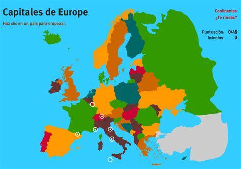 Mapa interactivo de Europa Capitales de Europa. Juegos ...