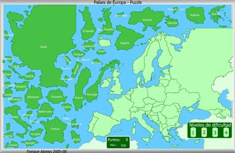 Mapa interactivo de Europa Países de Europa. Puzzle ...