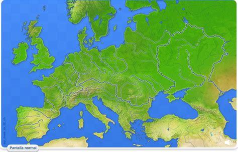 Mapa interactivo de Europa Ríos de Europa. Juegos ...