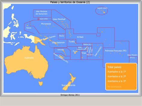 Mapa interactivo de Oceanía Países y territorios de ...
