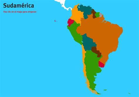 Mapa interactivo de Sudamérica Países de Sudamérica ...