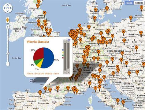 Mapa interactivo sobre medios de transporte en ciudades de ...