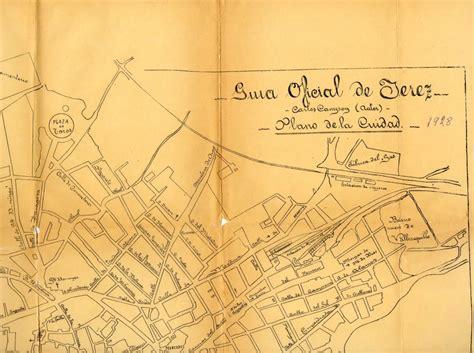 Mapa Jerez 1928 Campoy   JerezSiempre, Monumentos ...