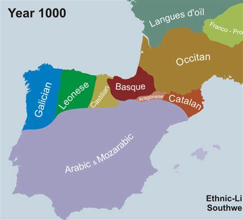Mapa - La Evolución de las Lenguas de la Península Ibérica