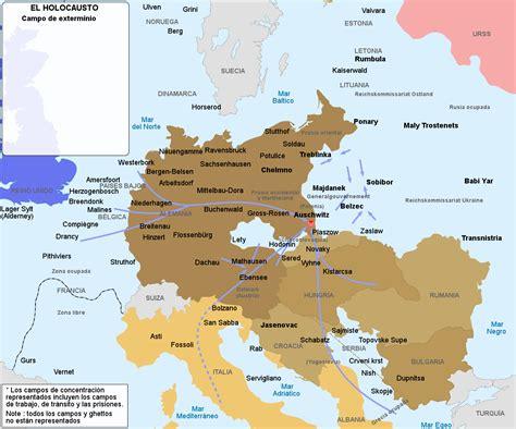 Mapa - Los Campos de Concentración y los Crematorios Nazis ...