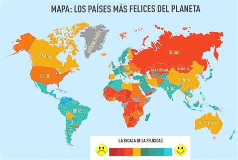 Mapa: Los países más felices del planeta   RT