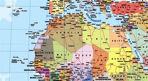 Mapa mundi en español | Mapas Posters Mundo y España