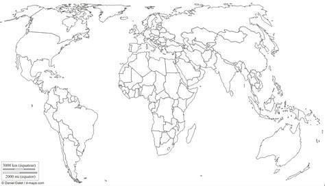 Mapa Mundi Mudo Politico Para Imprimir
