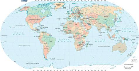Mapa Múndi para Imprimir: Continentes e Países | Toda Atual