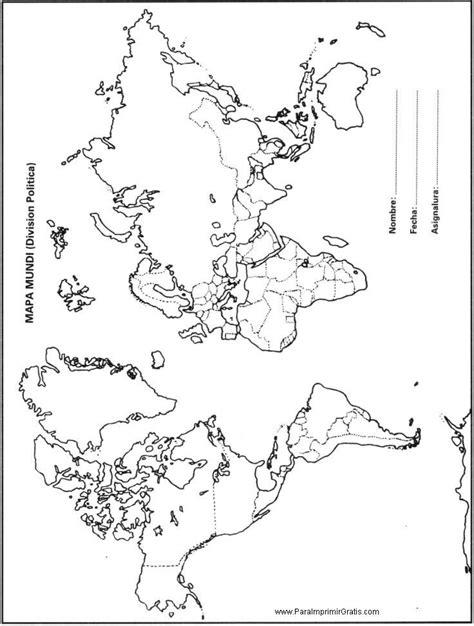 Mapa Mundi   Para Imprimir Gratis   ParaImprimirGratis.com