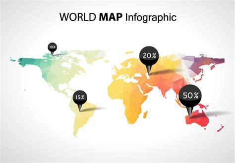 Mapa mundi para infografía en vector - Illustrator - eps y ai