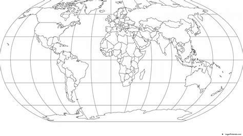 Mapa Mundi Para Pintar
