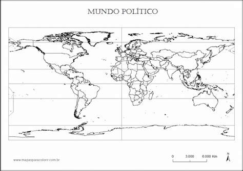 Mapa Mundi Político   Mapa Atual para Imprimir, Colorir ...