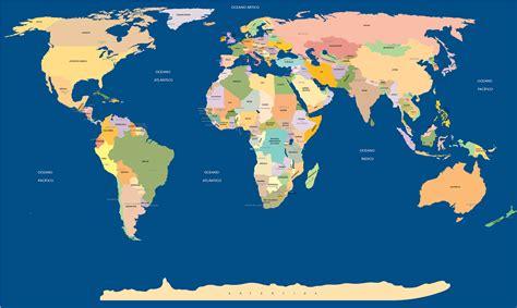 Mapa Mundi Político   Para Colorir, Para Imprimir e Desenho
