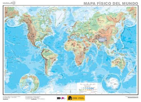 Mapa mundo fisico