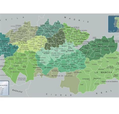 mapa municipios Toledo | Mapas Imantados en Pizarra ...