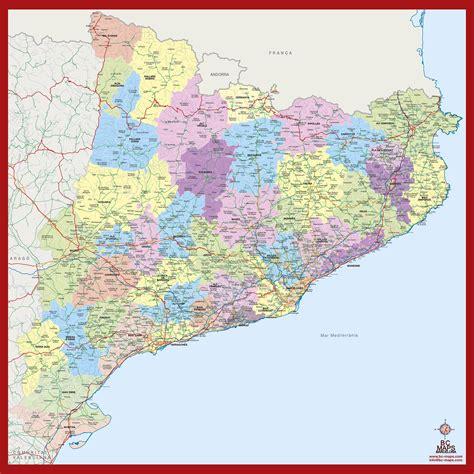 Mapa mural vectorial Catalunya municipis - Bc Maps mapa ...
