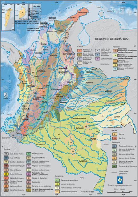 Mapa para imprimir de Colombia Mapa de Regiones ...