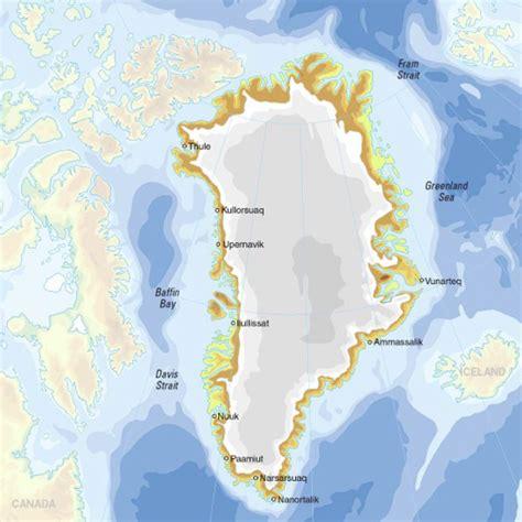 Mapa para imprimir de Groenlandia Mapa físico de ...