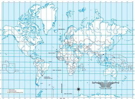 Mapa para imprimir del Planisferio Mapa mudo del ...