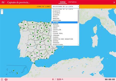 Mapa para jugar. ¿Cómo se llama? Capitales de provincias ...