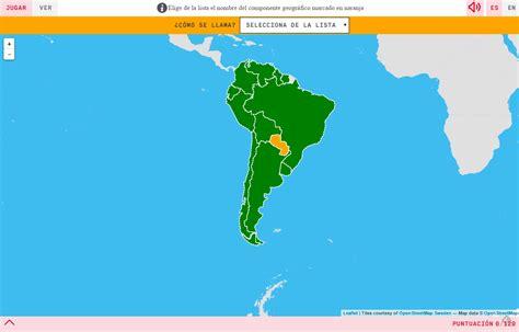 Mapa para jugar. ¿Cómo se llama? Países de América del Sur ...