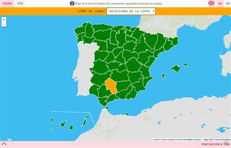 Mapa para jugar . ¿Cómo se llama? Provincias de España ...